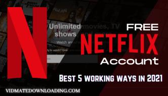 free netflix account 2021